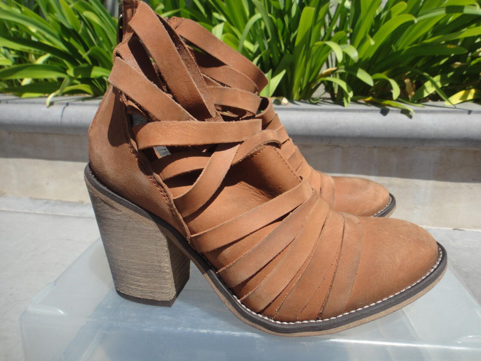 elementi di novità Free People HYBRID Strappy Leather avvioie, nero or or or Terracotta, EUR37 or 38  design unico