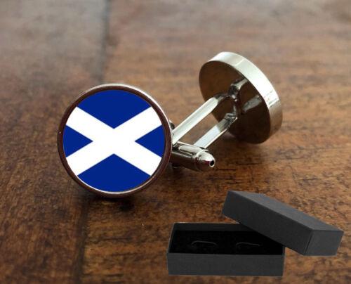 3D Lente de vidrio-St Andrews-Regalo De Navidad Bandera De Escocia-gemelos