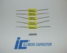 Illinois 1uf 630vcapacitors Polypropylene Film Axial Lead Capacitor Set Of 5