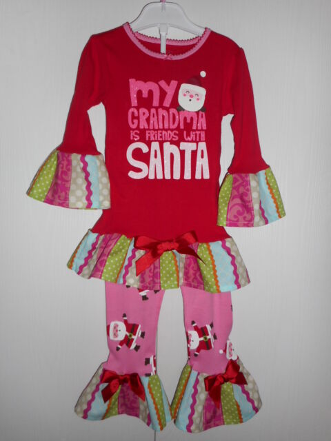 4259c2d08329 Details about Toddler Girls Carter s Christmas Pajama Outfit with Handmade  Ruffles Size 3T NWT