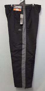 BNWT-Mens-Sz-4XL-Mr-Big-Slazenger-Black-Charcoal-Side-Stripe-Track-Pants