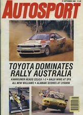Autosport September 21st 1989 *Spa WSPC & European F3000*