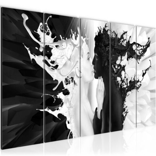 Wall pictures Milk and Coffee Fabric Canvas Picture-XXL Images Art Print 005055p
