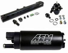 AEM Fuel Pressure Regulator+Fuel Rail+320lph Fuel Pump B-Series B16 B18C