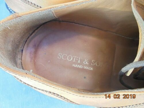 Scott Sons Chaussures Made Superbe hand 41 Cuir Lacets Homme Taille 5qE1x7xwd