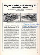 Fahrradständer Wagner Neher Aschaffenburg 1927 Reklame Fahrrad Maschinenfabrik +