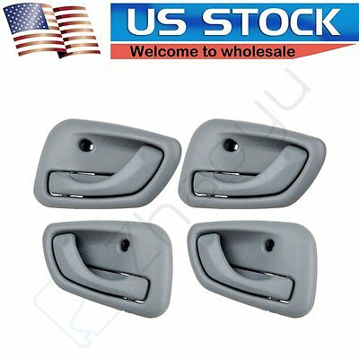 4Pcs for 99-04 Chevy Tracker Grey Interior Door Handles Right Left Front Rear