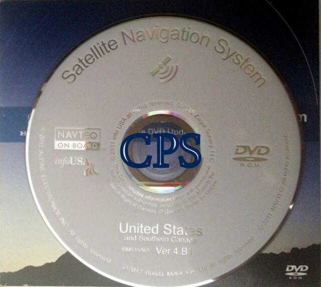 2012 Honda Acura 2013 Update Navigation DVD Ver. 4