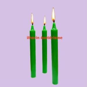 3-Bougies-vert-vif-teintees-dans-la-masse-magnetisees-pour-rituel