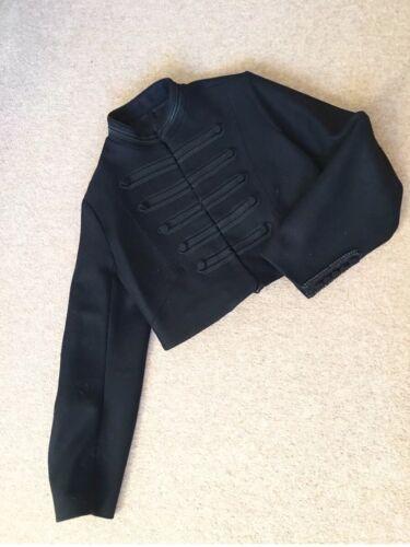 Taille bascule style Uk Veste noire en 12 M avec de Bnwt Zara militaire laine zawxEqwC8