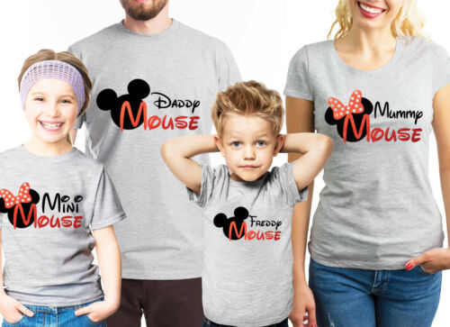 Daddy mouse mini mouse T-shirts set. Customized Family matching Mummy Mouse