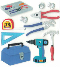 Tools Tool Box Pliers Monkey Wrench Hammer Nuts Bolts Jolee's 3D Stickers
