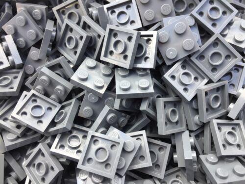 Dark Grey 2x2 Plate Brick 25 Per Pieces LEGO 3022