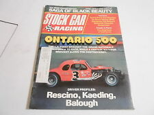 APRIL 1975 - STOCK CAR RACING vintage magazine - ONTARIO 500 - BLACK BEAUTY