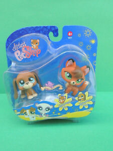 #808 Chien Dog Basset Hound 807 Renard Fox Figurine Lps Littlest Pet Shop Figure Garantie 100%