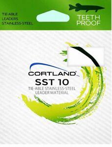 Cortland Tie-Able 15 lb Test Teeth Proof Stainless Steel Fishing Leader (10 Ft.)