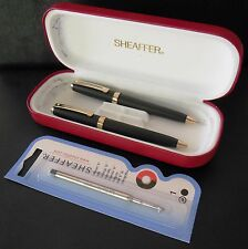 Sheaffer Prelude Ballpoint Pen Pencil Set Black Matte with 22K Gold Plate