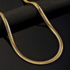 18k Goldkette Kette Edelstahl gold Halskette massiv Panzerkette Herren HOT SALE