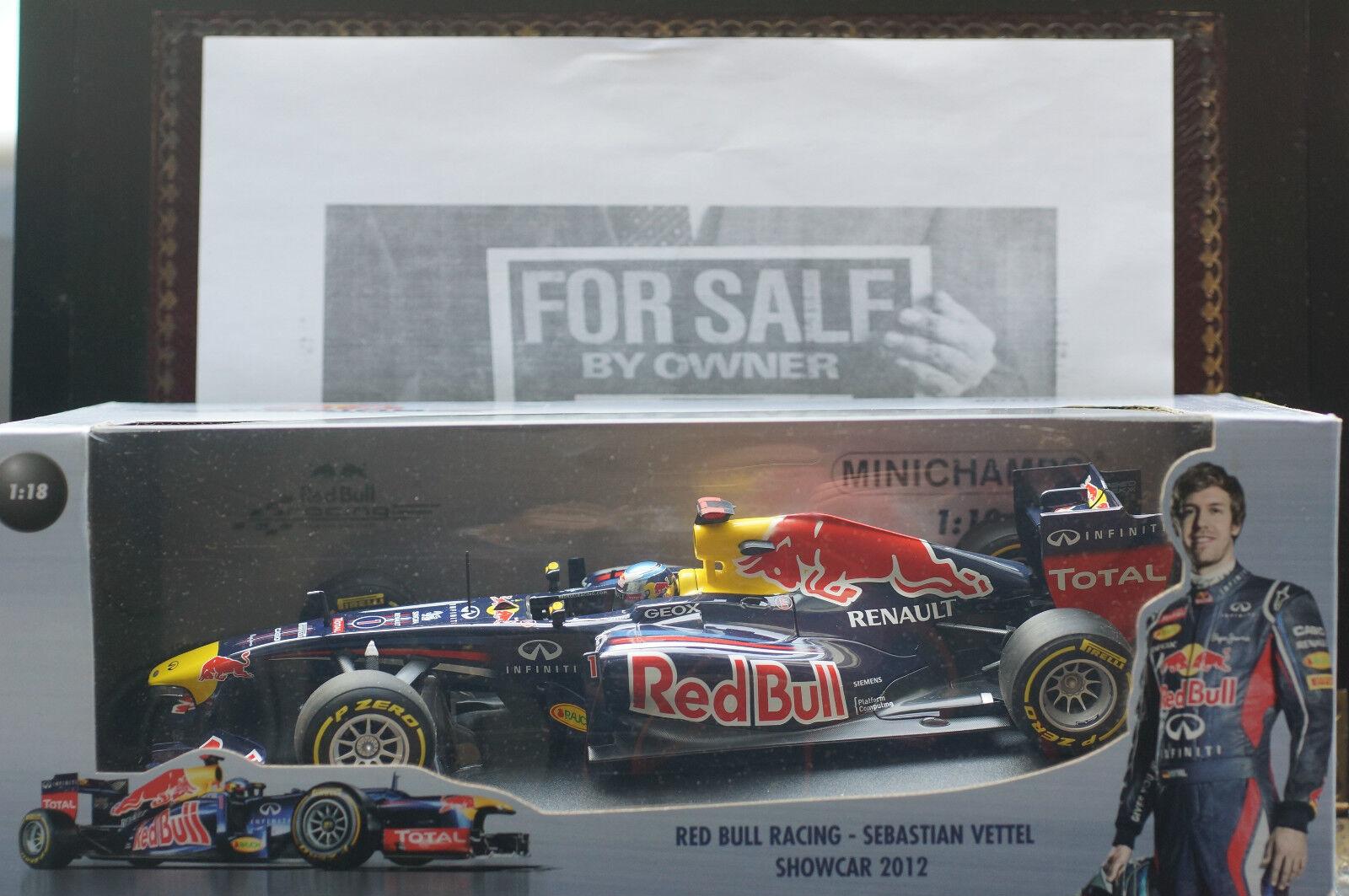 Minichamps rouge Bull S Vettel 2012 1 18 scale RENAULT-F1 Car Memorabilia