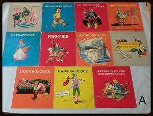 Lot-11-Vintage-German-Illustrated-Fairy-Tale-Books-Die-Regenbogenbucher-Grimm