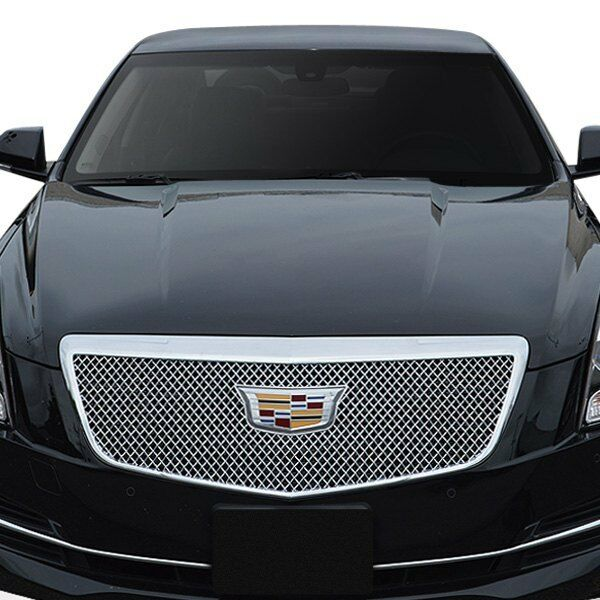 For Cadillac ATS 2015-2018 Black Horse 1-pc Chrome Mesh