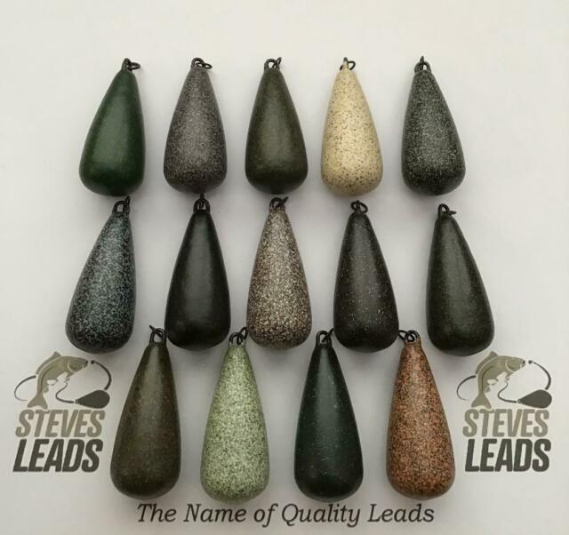 6 2oz INLINE DUMPY DICE FISHING LEADS IN SILTY GREEN TEXTURED