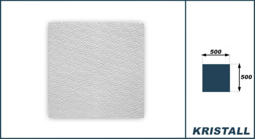 10 qm Platten Deckenplatten Dekorpaneel Styroporfliesen Decke EPS 50x50 Kristall