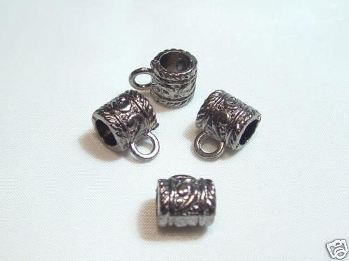 Ab87gm 6 X Decorativo Bronce Colgador Beads