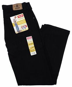 9aaae784 Wrangler Hero Relaxed Fit Jeans Black Size 36 X 30 Mens Roomy Vintage