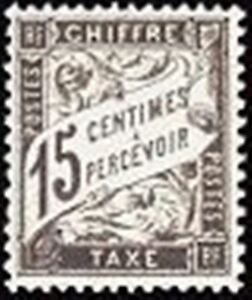 FRANCE-STAMP-TIMBRE-TAXE-N-16-034-TYPE-DUVAL-15c-NOIR-034-NEUF-x-TB
