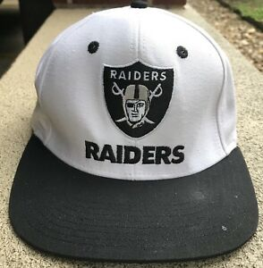 Oakland-Raiders-Snap-Back-Hat-Cap-One-Size-Reebok-NFL-Football-Team-Apparel-CA