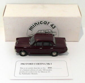 Pathfinder-Minicar-escala-43-1-43-MIN5-1963-Ford-Cortina-Mk-I-1-de-300-Granate