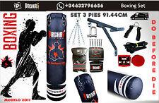 KIT DE BOXE. Mano Boxeo MMA Entrenamiento Guantes de perforación Kicking Paquete
