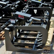 "New HD 60"" Skid Steer Root Grapple Bucket Twin Cylinder - Bobcat - Universal fit"