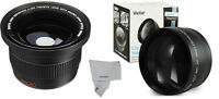 Wide Angle + Macro +2.2x Telephoto For Canon Rebel Sl1 T3 T5i T6s Ef-s 18-55mm