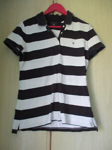 4c7c18f6 Image is loading ladies-TOMMY-HILFIGER-BLUE-amp-WHITE-STRIPED-COTTON-