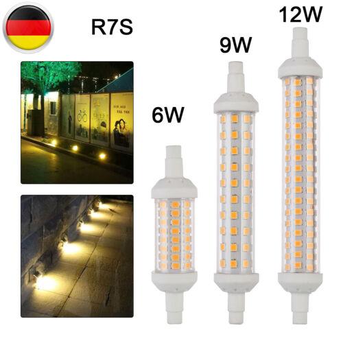 R7S LED Dimmbar 78//118//135mm Warmweiß Strahler Leuchtmittel  Halogen Birne DE
