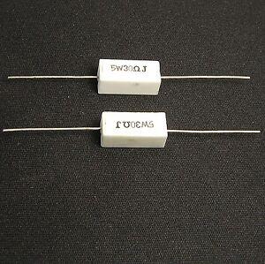 4pcs-30-ohm-5-watts-5W-5-Ceramic-Cement-Power-Resistors-5W30ohm-5W30-J-30R