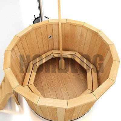 NordLog Hot Tub Badefass mit Ofen Badezuber Badetonne Badebottich 1,9m Sauna