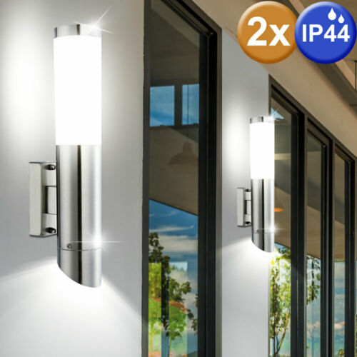 2er SET in acciaio inox APPLIQUE UP /& DOWN emettitore Terrazza Illuminazione esterna