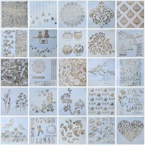 13pc-DIY-Craft-Layering-Stencils-Painting-Scrapbooking-Stamping-Album-Decors