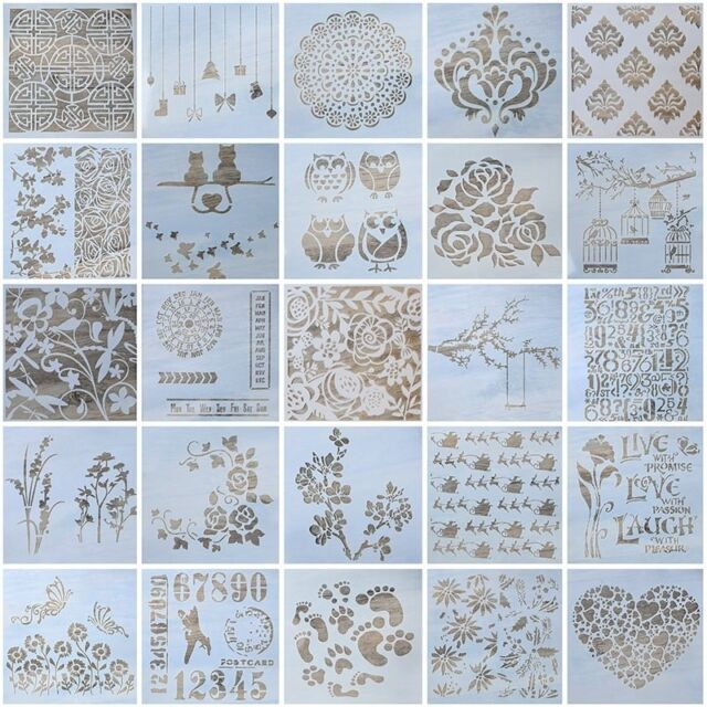DIY Craft Wall Painting Embossing Template Layering Stencils Scrapbooking