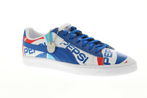 Details about Puma Basket X Pepsi 36834501 Mens Blue Classic Lace Up Low top Sneakers Shoes
