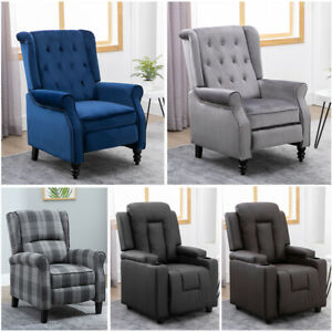 Details about Luxury FabricLeather Recliner Chair Wingback Sofa Lounge Home Cinema Fireside