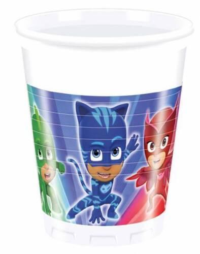 Pj máscaras 8 vasos de vasos de plástico recipientes para bebidas vajilla desechable loza pIástica Cup