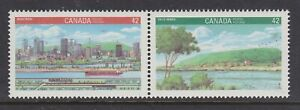 CANADA NO 1405a (1404 to 1405), CANADA 1992, MONTREAL & VILLE-MARIE,  MINT NH