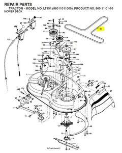 46 Inch Murray Belt Diagram as well 231318848924 further Poulan Riding Lawn Mower Wiring Diagram further Poulan Riding Lawnmower 366805 besides T24987796 Free belt routing diagrams john deere. on craftsman riding mower deck parts diagram
