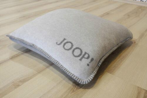 Joop Coussin Uni doubleface fumée Graphite 50x50cm Incl Ressort de remplissage NEUF