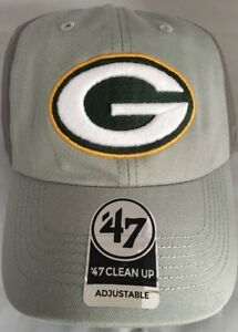 ca1ae964e50 NFL Green Bay Packers 47 Clean Up Adjustable Hat Gray Two Toned ...