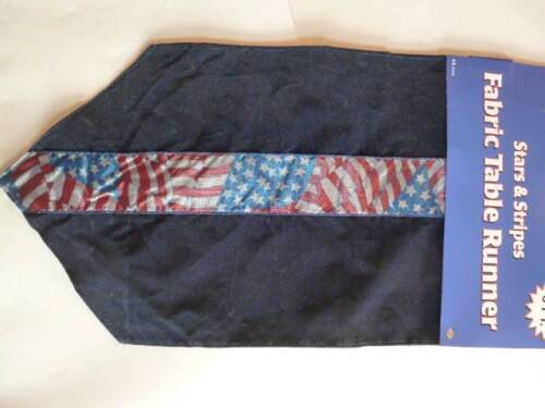 """July 4 Memorial Day Patriotic Flag Red//White//Blue Table Runner 12 x 72/"""" Long NEW"""